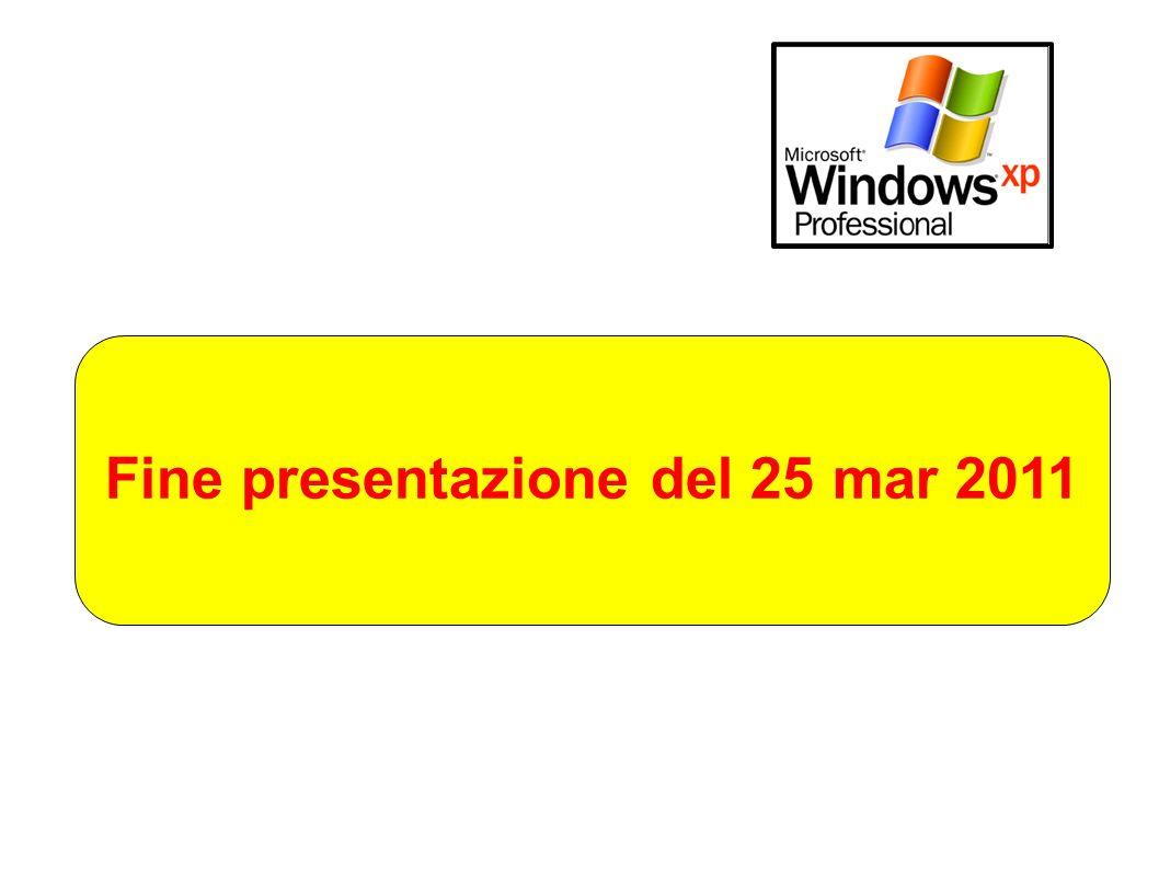 Fine presentazione del 25 mar 2011