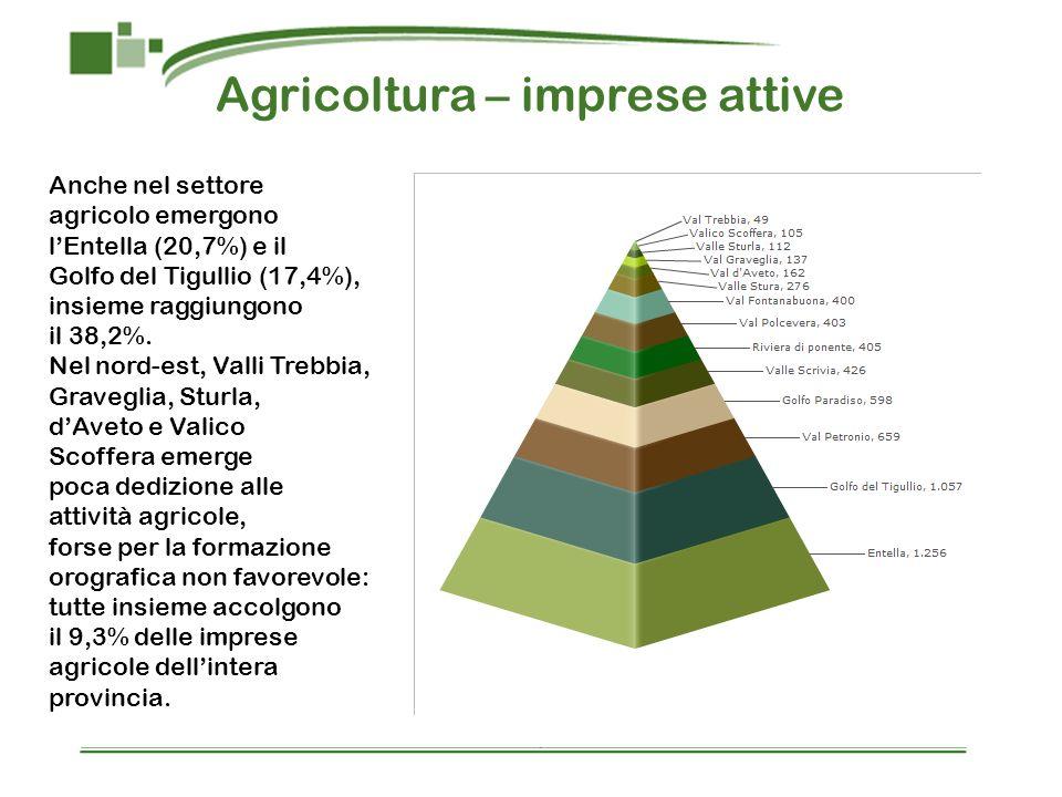 Agricoltura – imprese attive