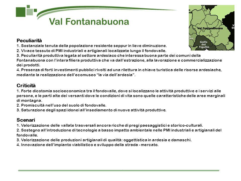 Val Fontanabuona Peculiarità Criticità Scenari