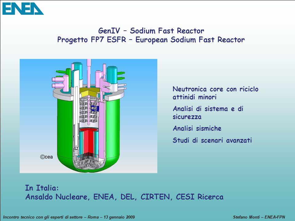 GenIV – Sodium Fast Reactor