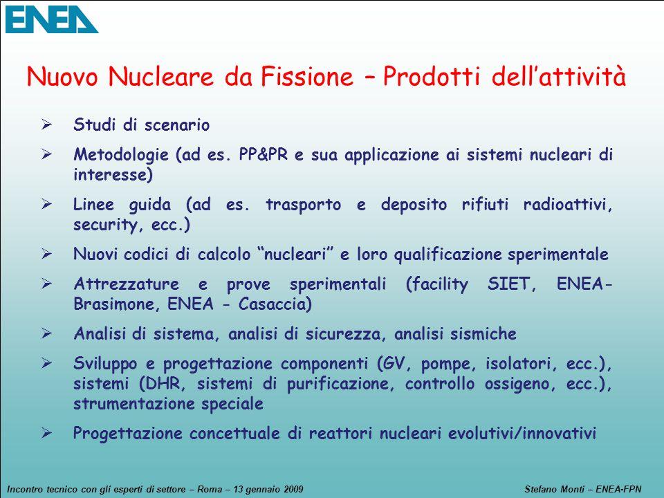 Nuovo Nucleare da Fissione – Prodotti dell'attività