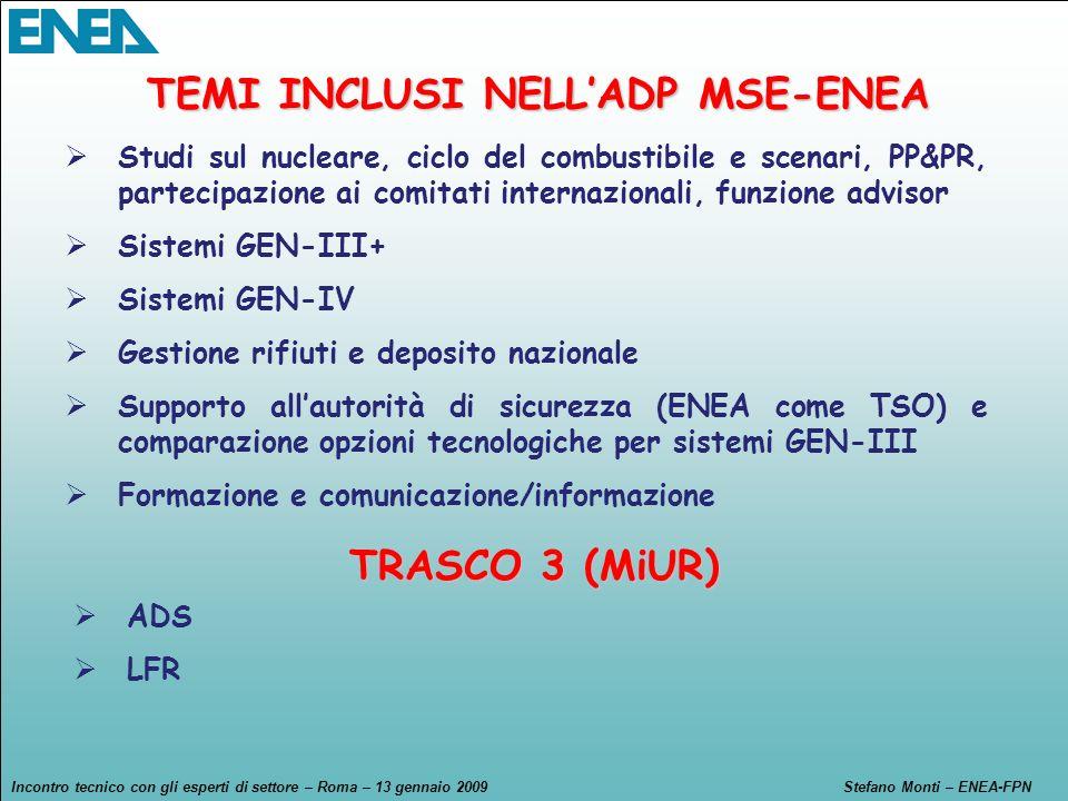 TEMI INCLUSI NELL'ADP MSE-ENEA