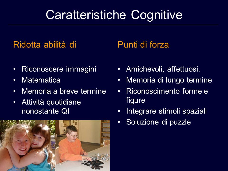 Caratteristiche Cognitive