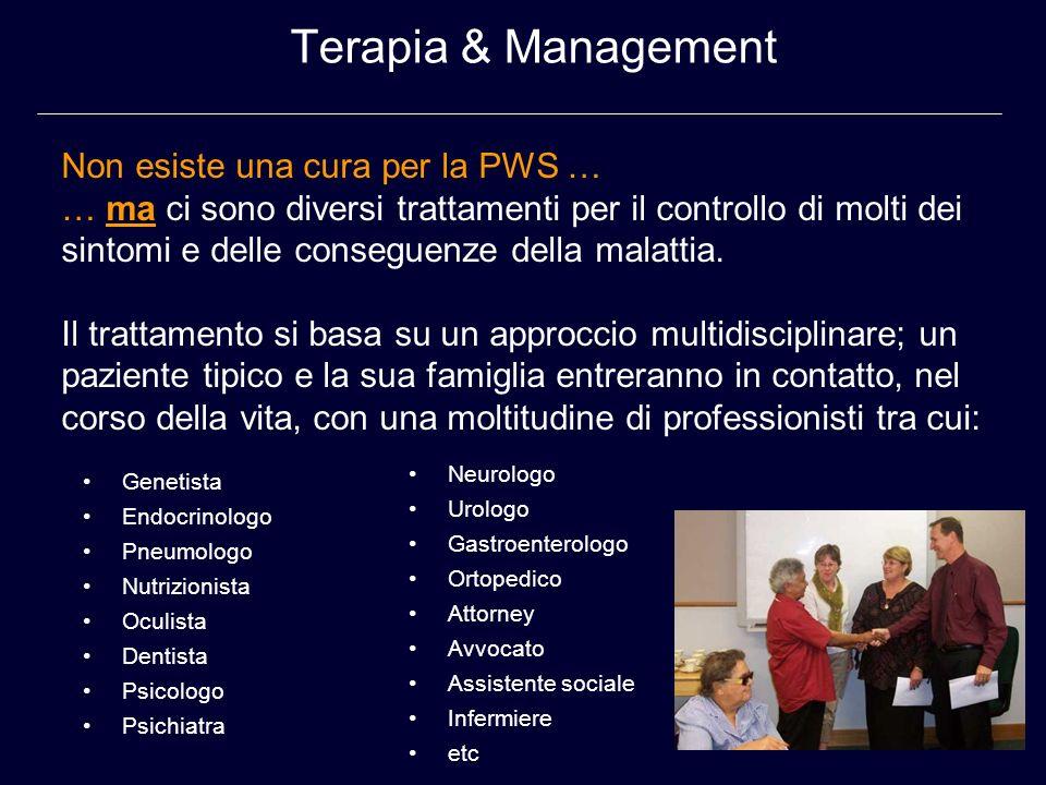 Terapia & Management Non esiste una cura per la PWS …