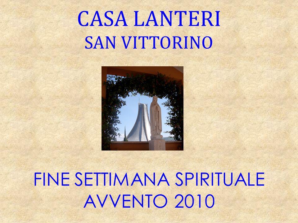 FINE SETTIMANA SPIRITUALE