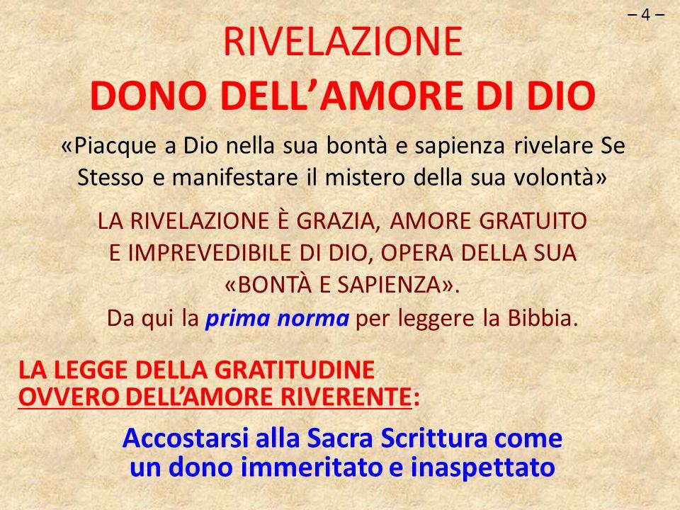 RIVELAZIONE DONO DELL'AMORE DI DIO