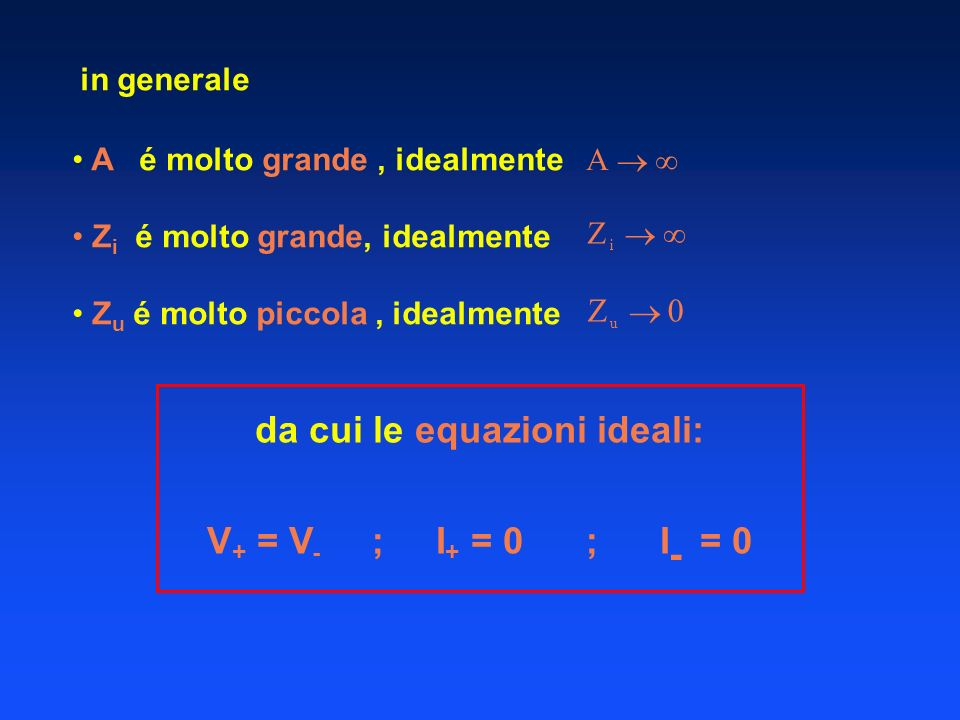da cui le equazioni ideali: