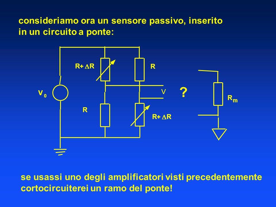consideriamo ora un sensore passivo, inserito