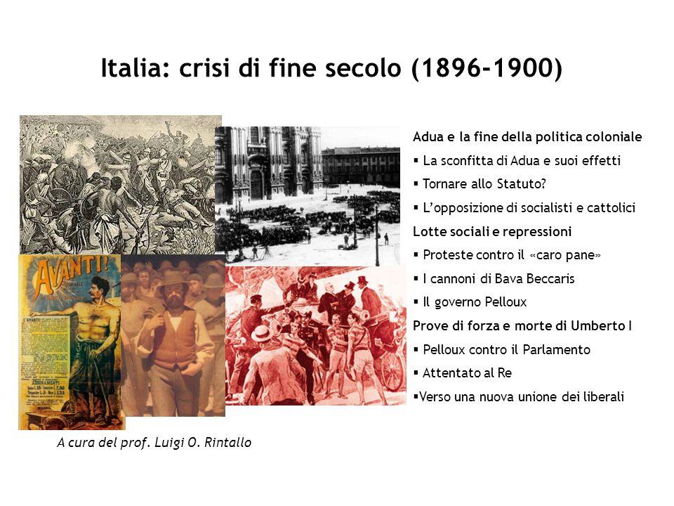 Italia: crisi di fine secolo (1896-1900)