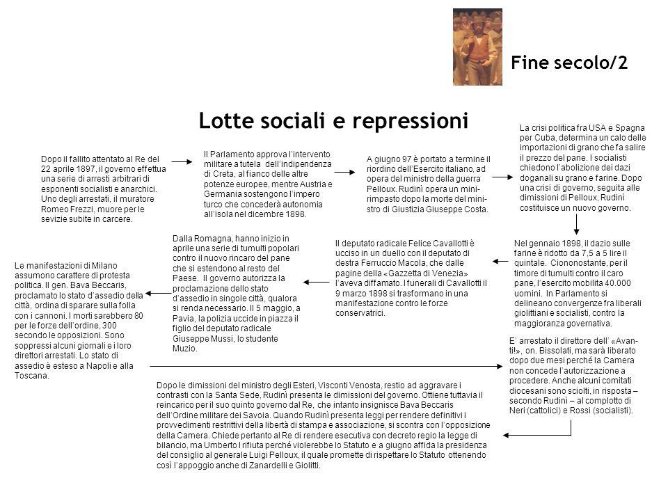Lotte sociali e repressioni