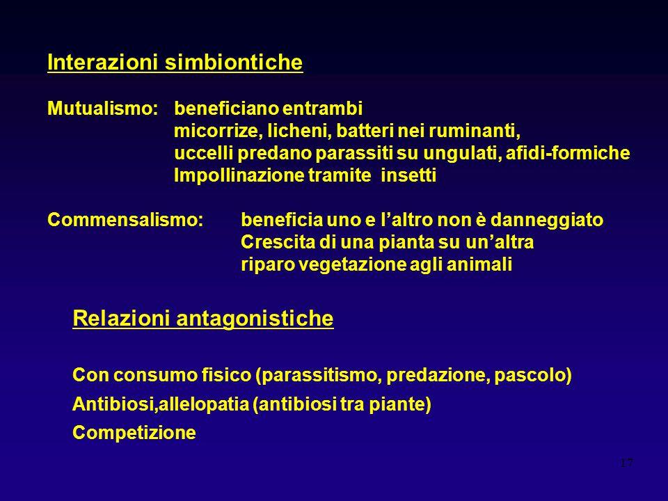 Interazioni simbiontiche