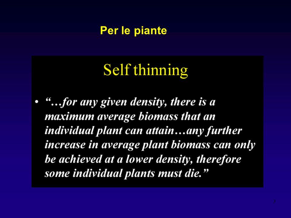 Per le piante