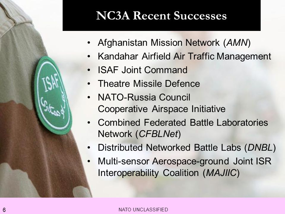 NC3A Recent Successes Afghanistan Mission Network (AMN)