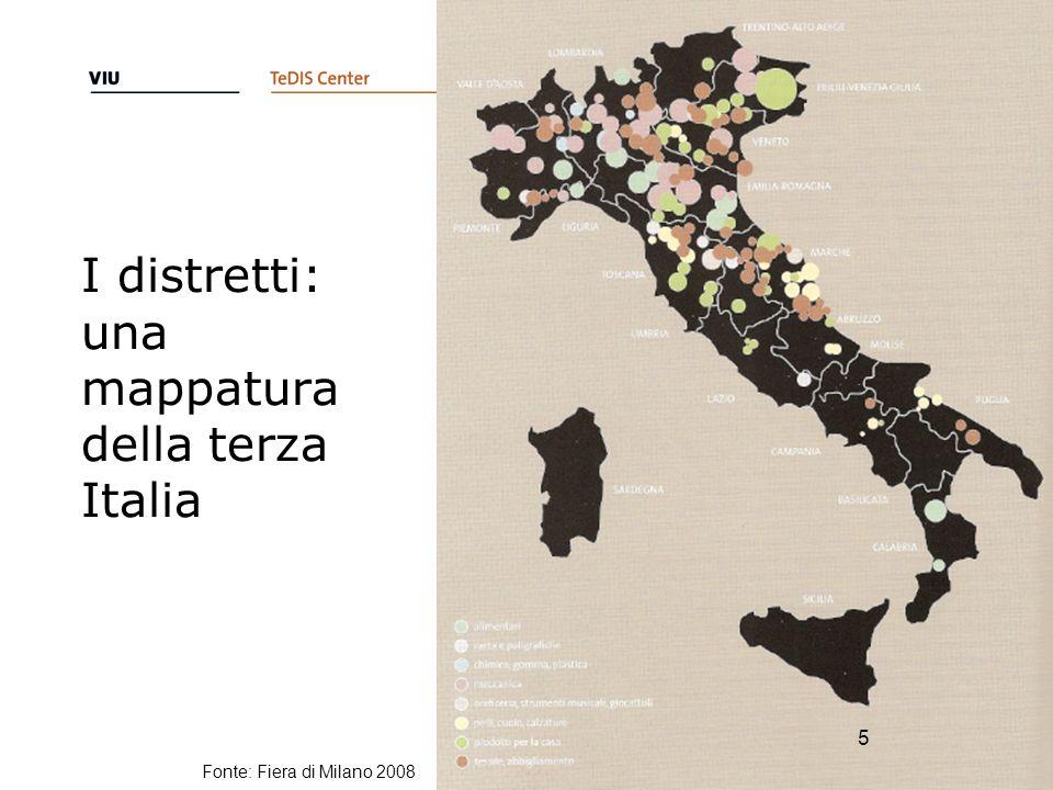 I distretti: una mappatura della terza Italia