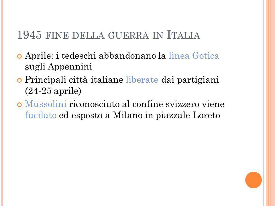 1945 fine della guerra in Italia