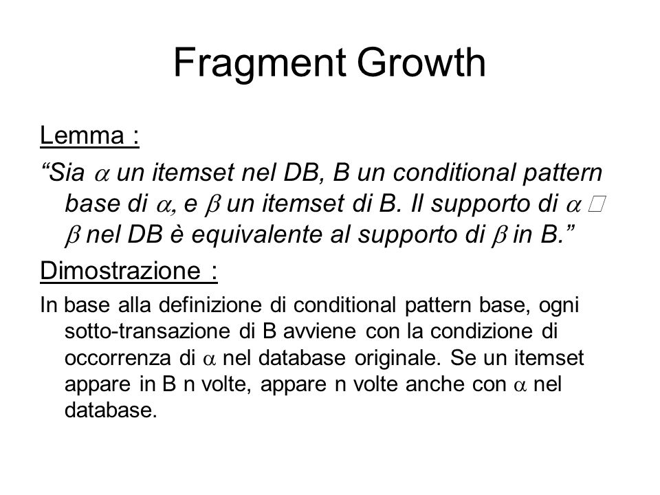 Fragment Growth Lemma :