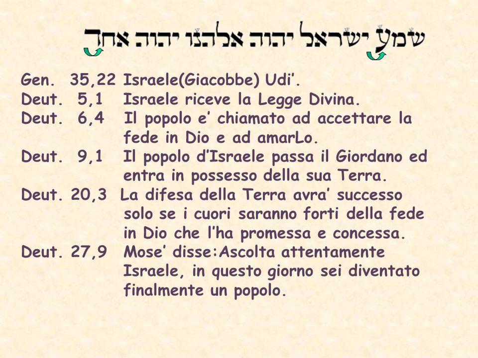 Gen. 35,22 Israele(Giacobbe) Udi'.