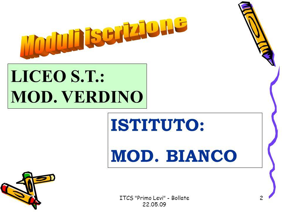ITCS Primo Levi - Bollate 22.05.09