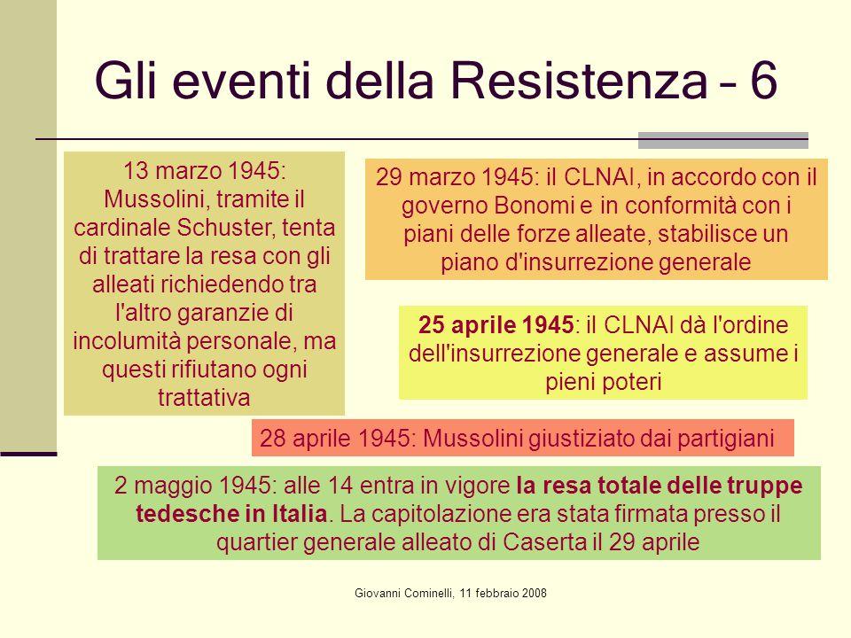 Gli eventi della Resistenza – 6