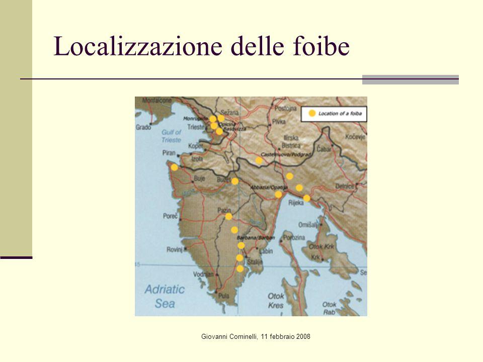 Localizzazione delle foibe