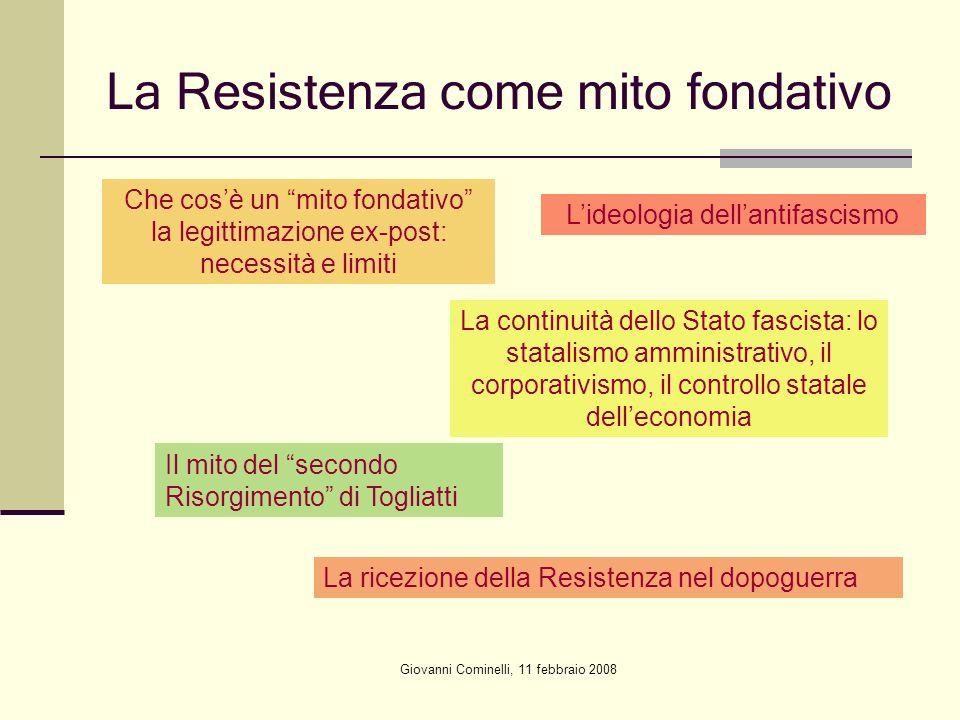 La Resistenza come mito fondativo