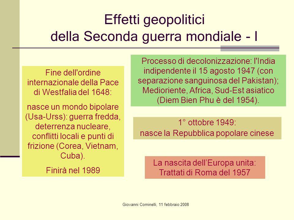 Effetti geopolitici della Seconda guerra mondiale - I