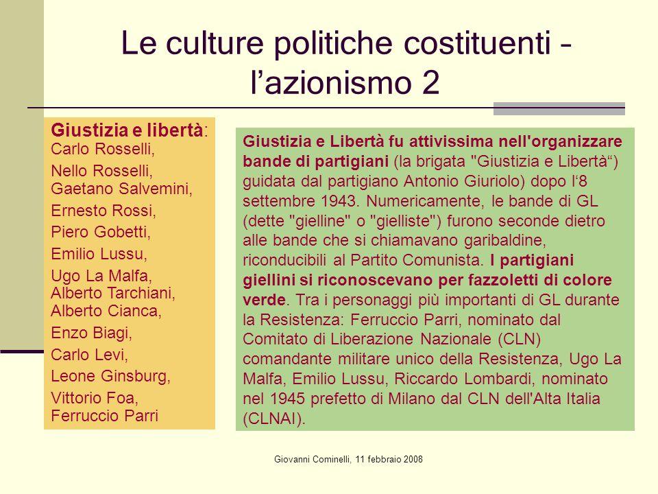 Le culture politiche costituenti – l'azionismo 2
