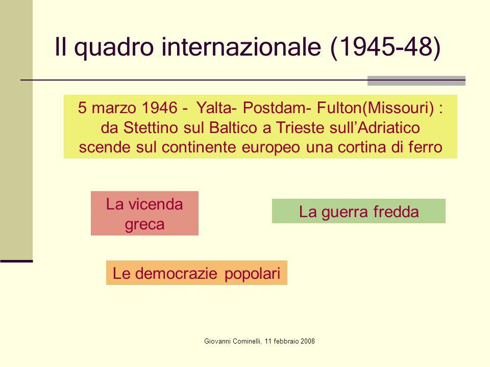 Il quadro internazionale (1945-48)