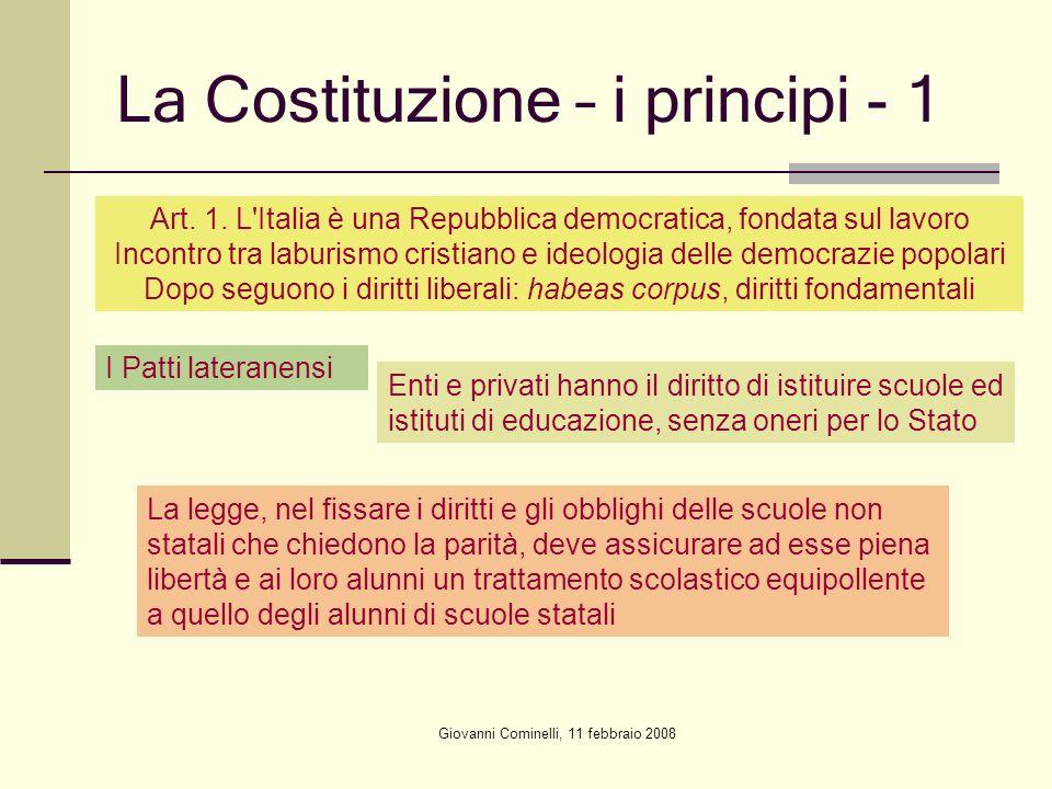 La Costituzione – i principi - 1
