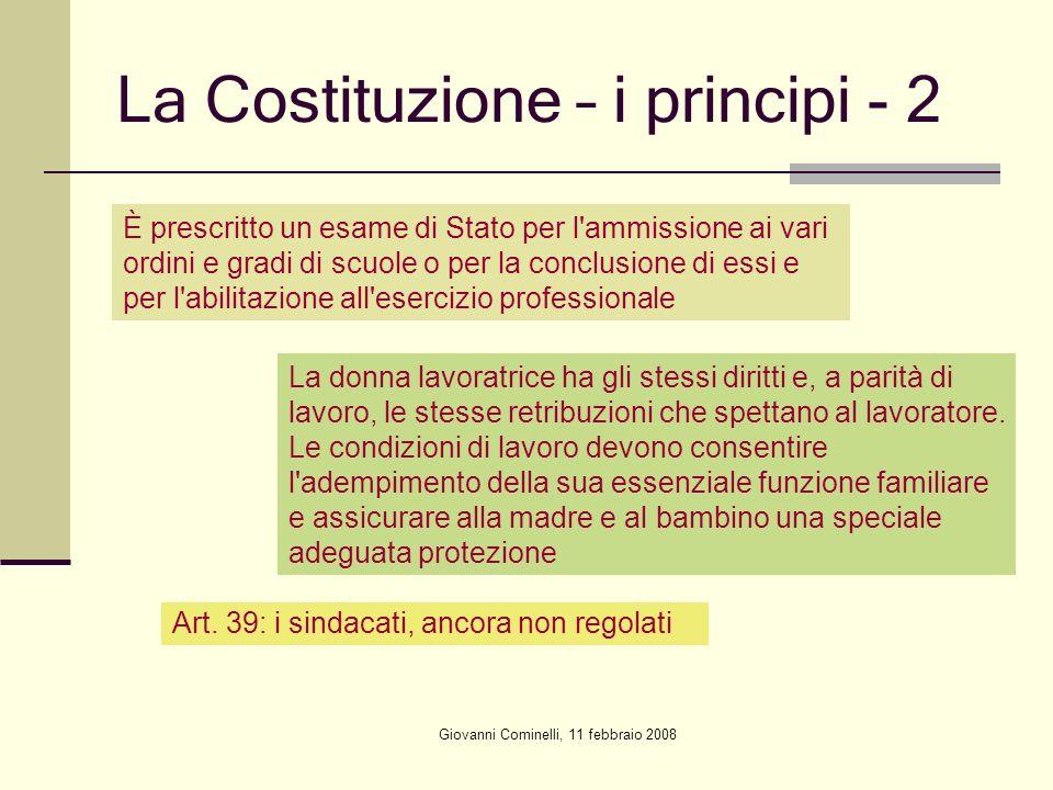 La Costituzione – i principi - 2