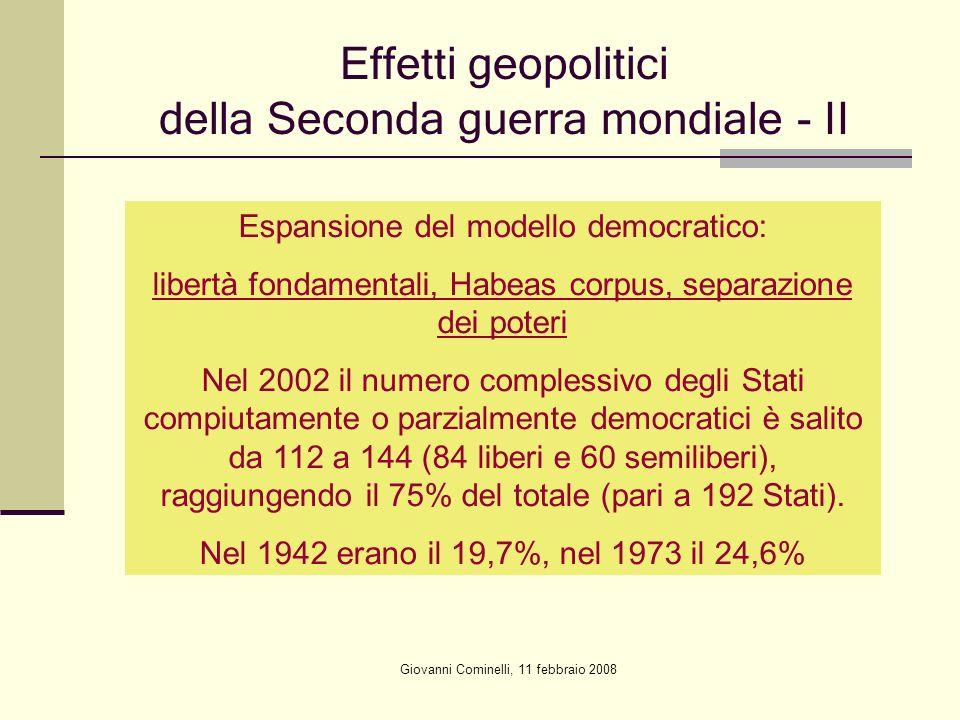 Effetti geopolitici della Seconda guerra mondiale - II