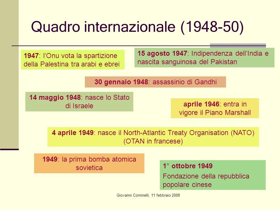 Quadro internazionale (1948-50)