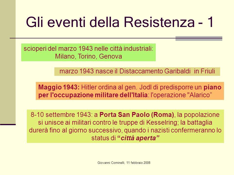 Gli eventi della Resistenza - 1