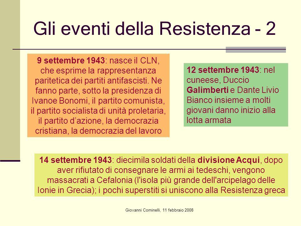 Gli eventi della Resistenza - 2