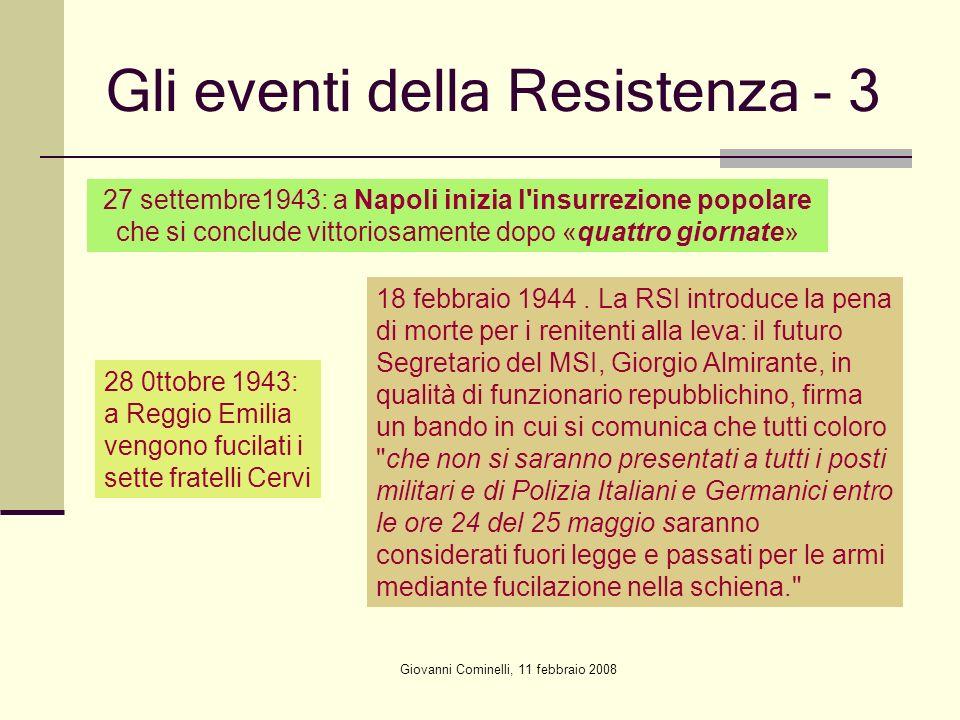 Gli eventi della Resistenza - 3