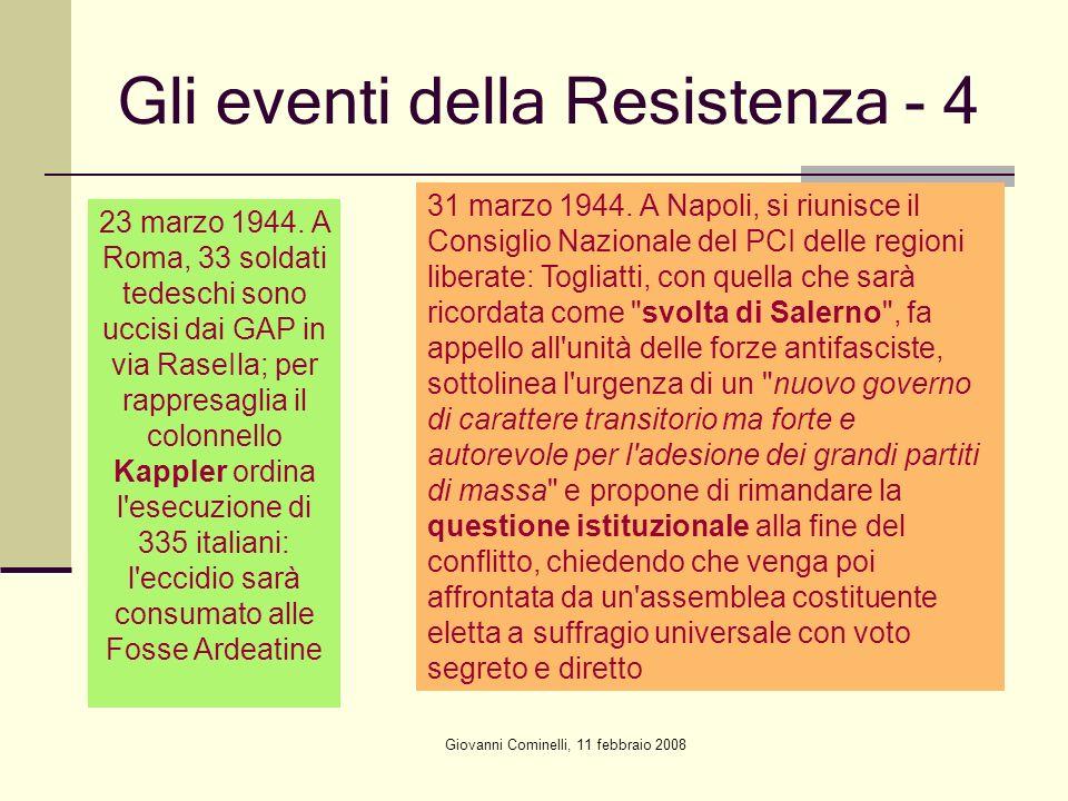 Gli eventi della Resistenza - 4