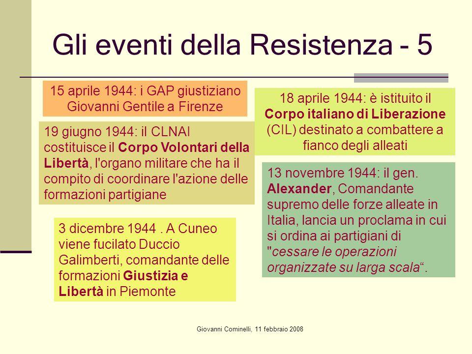 Gli eventi della Resistenza - 5