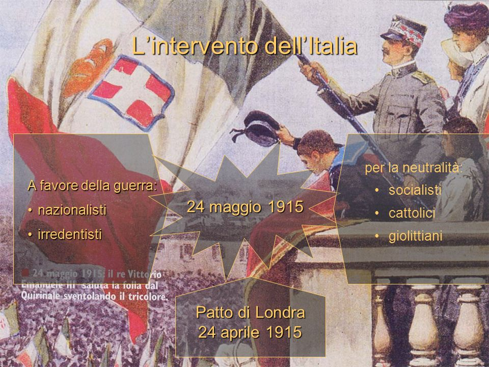 L'intervento dell'Italia