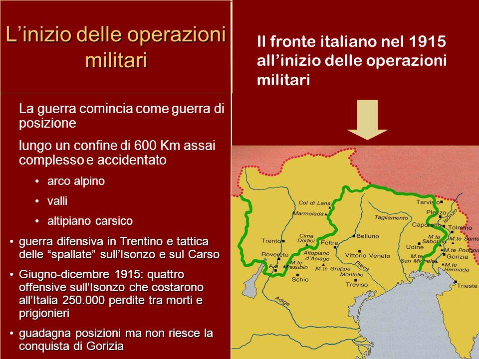 L'inizio delle operazioni militari