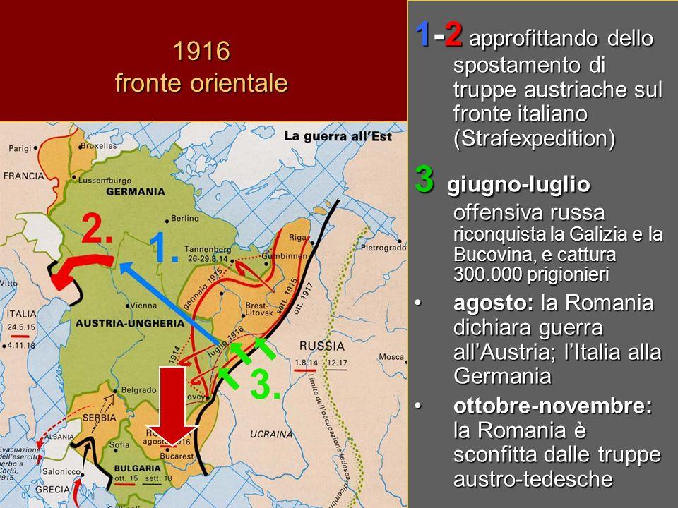 1-2 approfittando dello spostamento di truppe austriache sul fronte italiano (Strafexpedition)