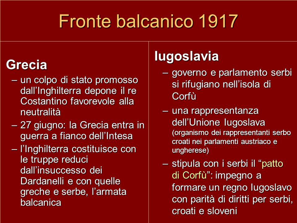 Fronte balcanico 1917 Iugoslavia Grecia