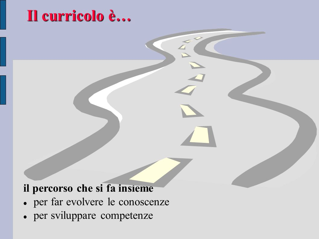 Il curricolo è… il percorso che si fa insieme