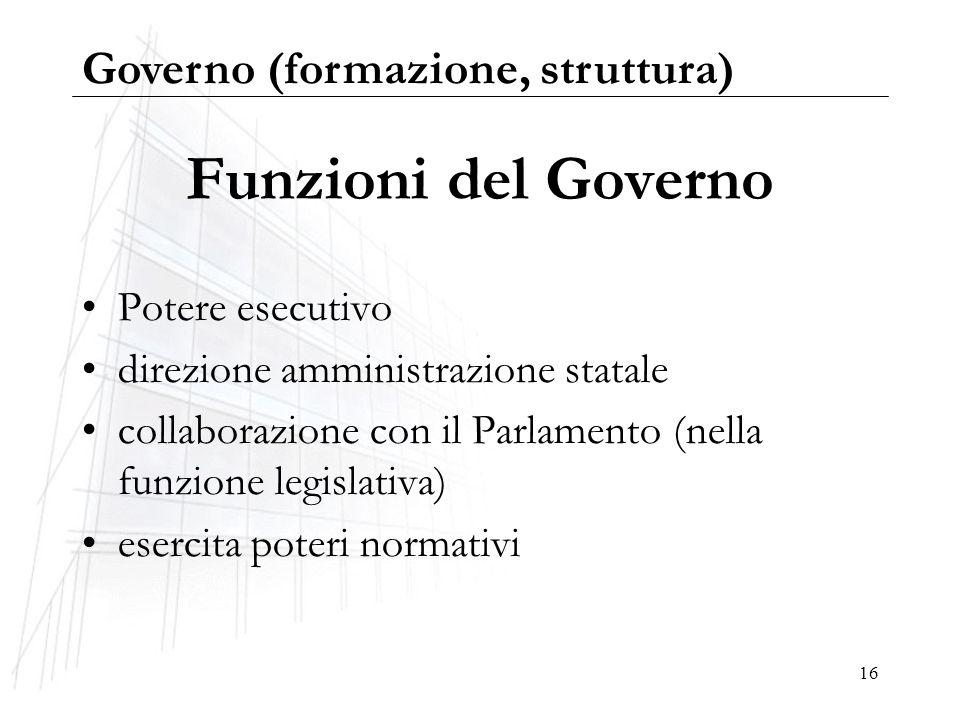 Governo formazione e struttura ppt scaricare for Struttura del parlamento