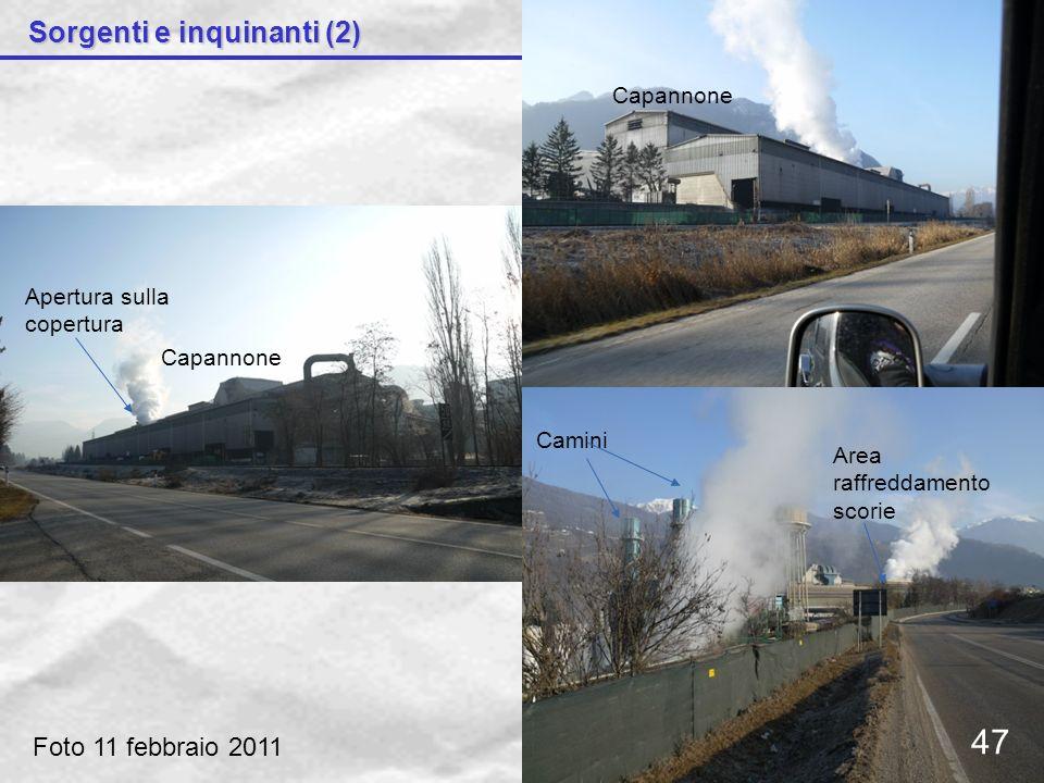 47 Sorgenti e inquinanti (2) Foto 11 febbraio 2011 Capannone