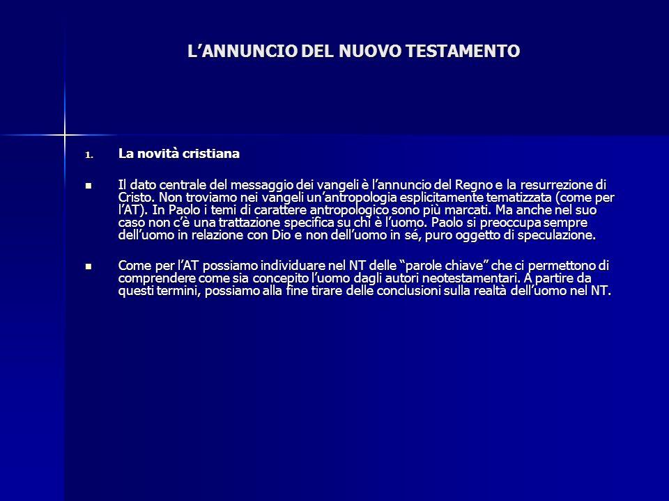 L'ANNUNCIO DEL NUOVO TESTAMENTO