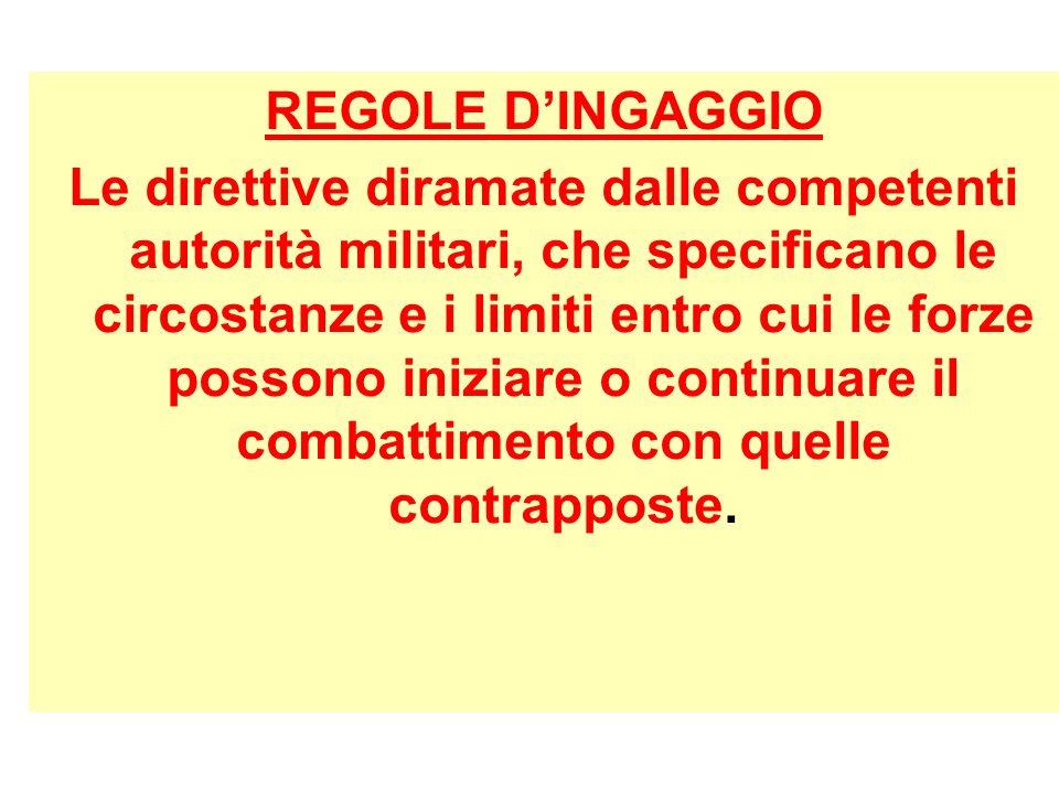 REGOLE D'INGAGGIO