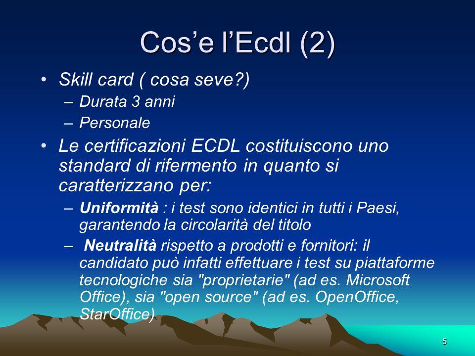 Cos'e l'Ecdl (2) Skill card ( cosa seve )