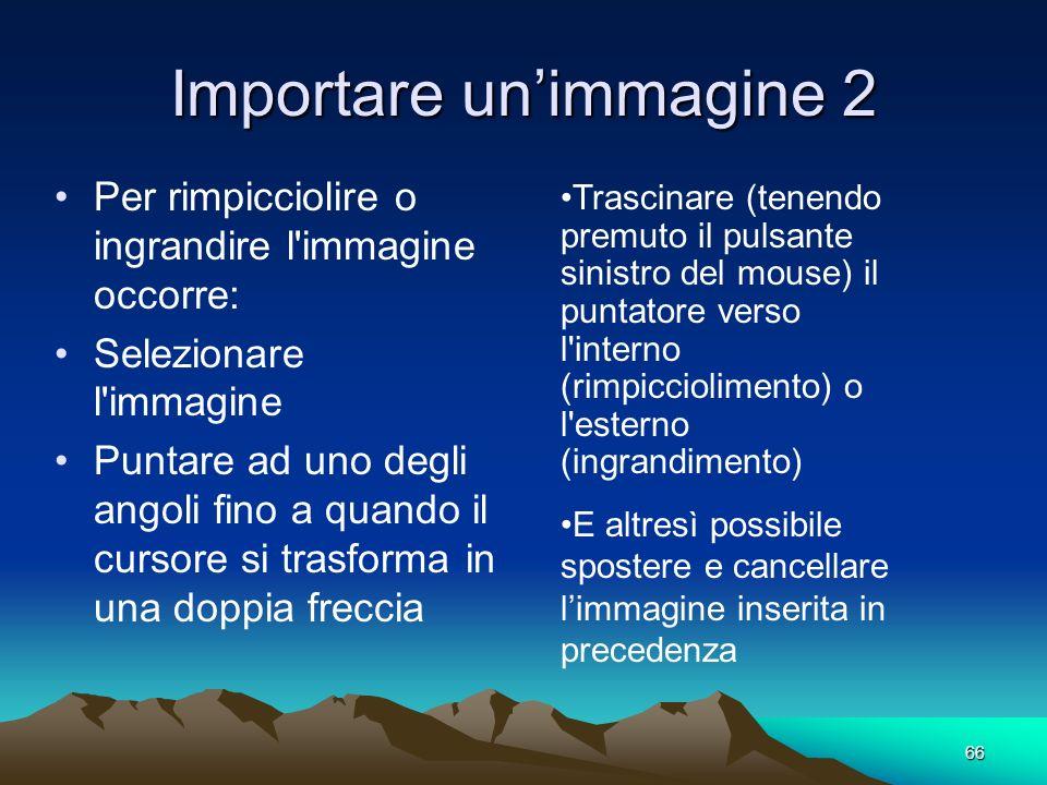 Importare un'immagine 2