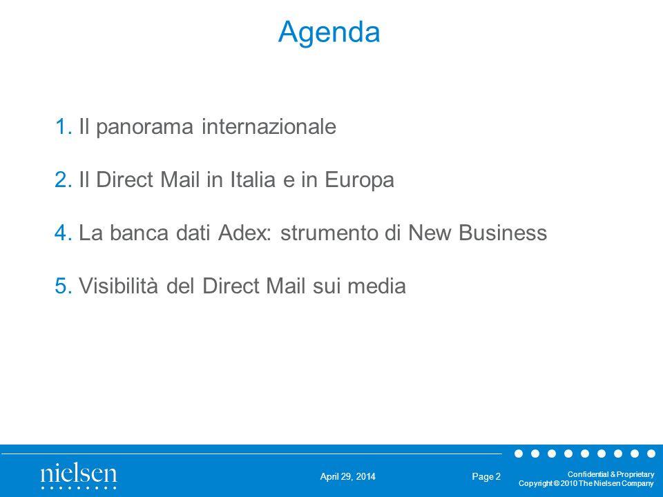 Agenda 1. Il panorama internazionale
