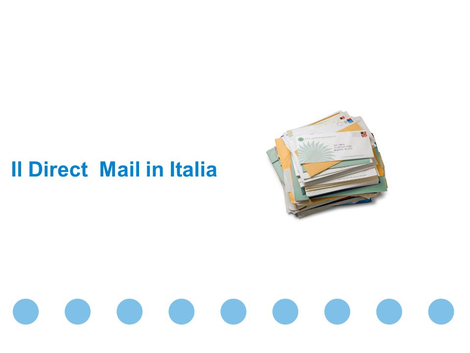 Il Direct Mail in Italia